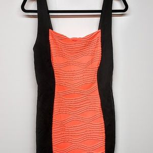Charlotte Rues Coral & Black Dress  sleeveless